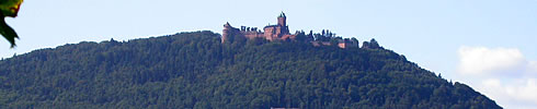 Das Schloss Haut Koenigsbourg ist nicht weit von Riquewihr