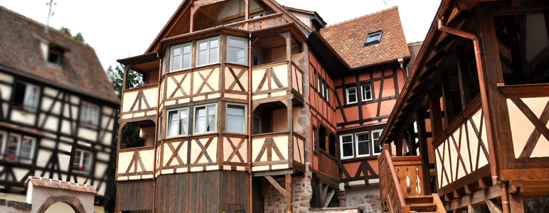New luxury holiday gites with balcony or terrace in Riquewihr, Alsace France